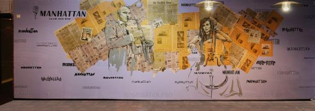 рисунок на стене клуба