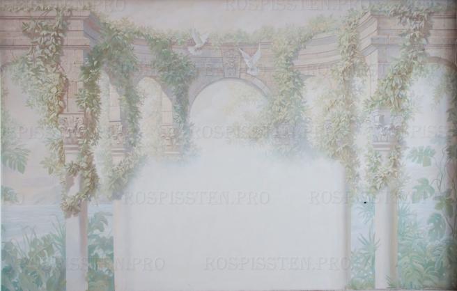 Художественная роспись спальни