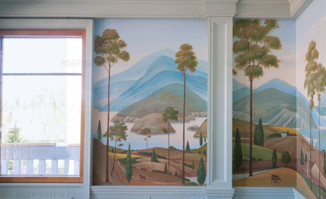 роспись-стен-потолков-загородного-дома