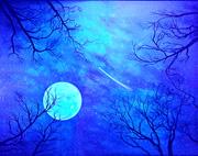 роспись потолка-звездное небо- светящимися красками