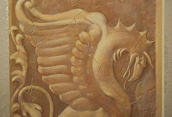 роспись стен в квартире орнаментом
