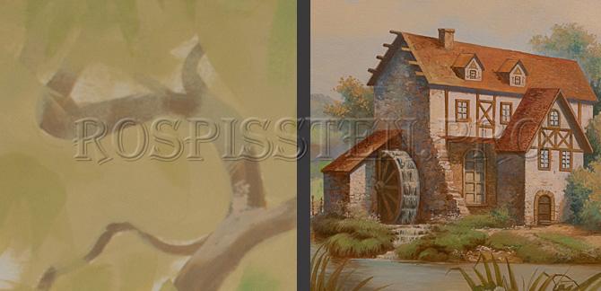 детализация в росписи стен