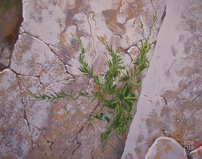 роспись экстерьера, травки в скалах