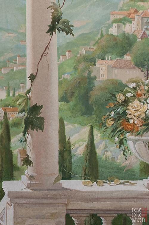 итальянский пейзаж. фрагмент росписи
