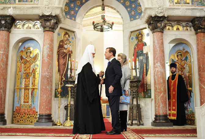 президент в кронштадском соборе