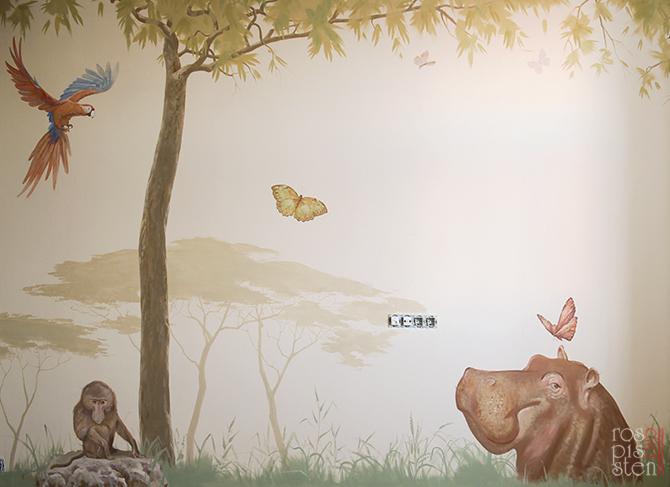роспись детской , африканские животные