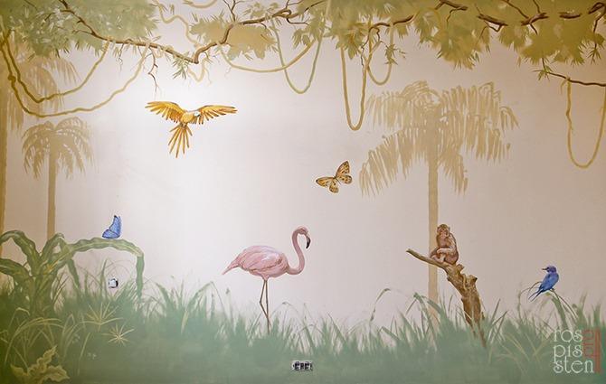 роспись детской джунгли