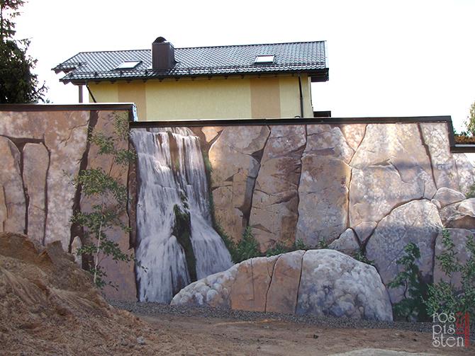 роспись экстерьера, общий вид, скалы, камни