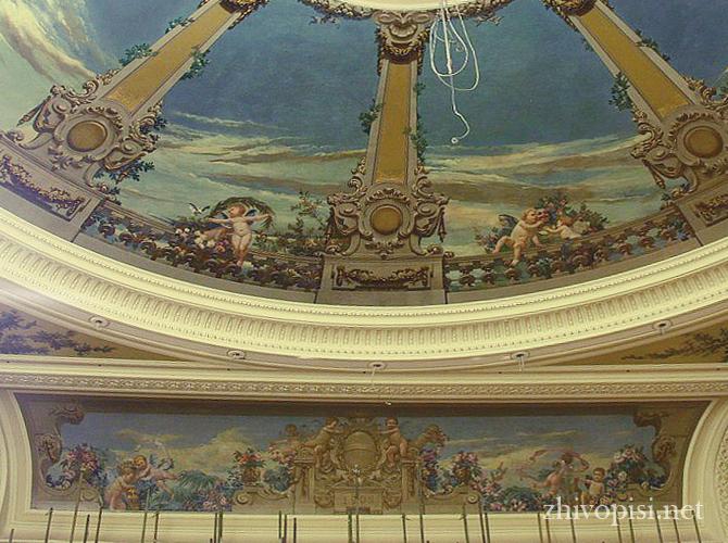 роспись интерьера в классическом стиле