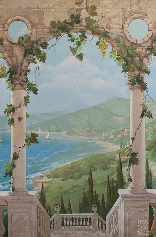 роспись-итальянский-пейзаж-фрагмент