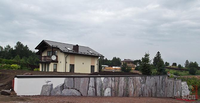 роспись стены загородный дом