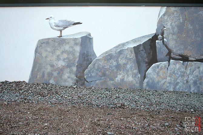роспись стены , чайка, наружная роспись