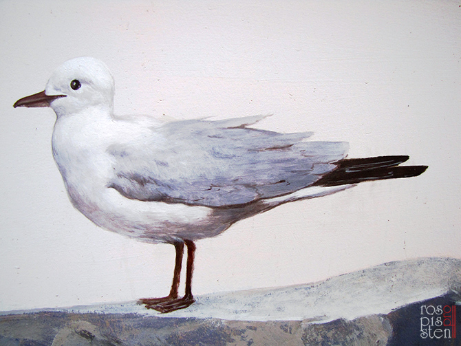 наружная роспись стен,чайка