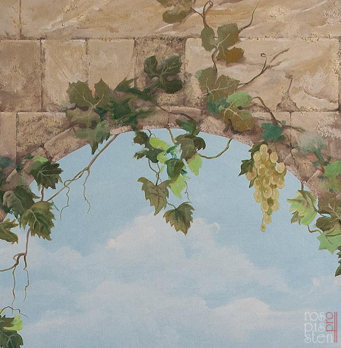 роспись стен. фрагмент с виноградом