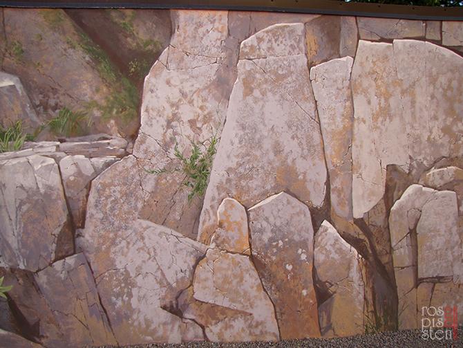 наружная роспись стен, скалы