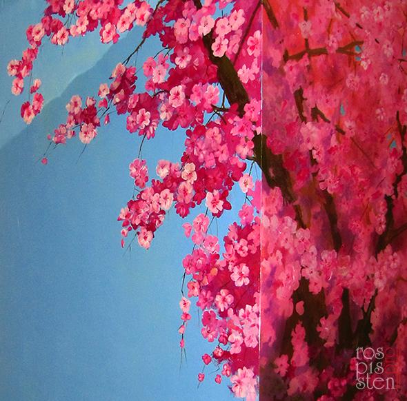 роспись цветущая сакура