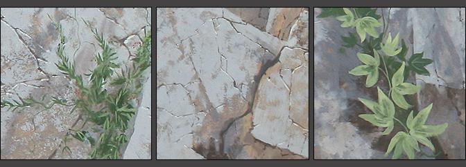 фрагменты росписи стен, травки