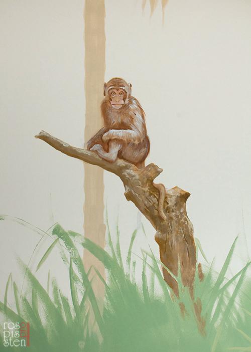 роспись детской, обезьяна
