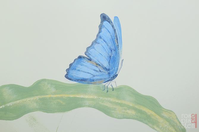 роспись детской, бабочка