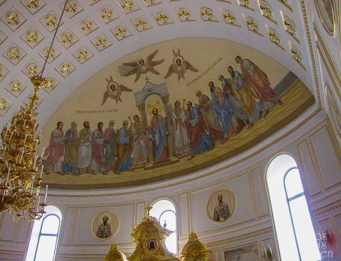 Роспись храма- центральный алтарь Кафедрального Собора г. Саранск