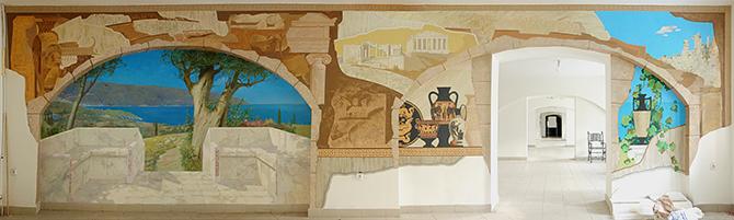 роспись стен выставочного зала