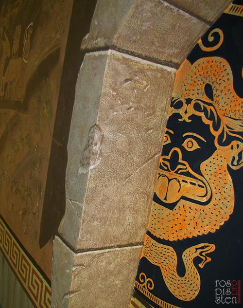 роспись стен фактура камня