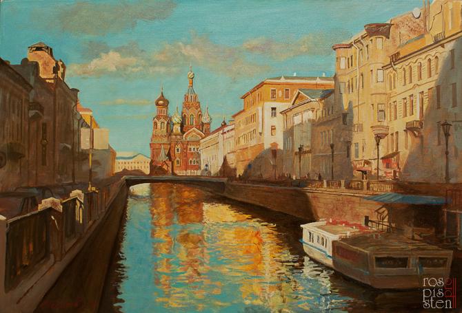 Пейзажи Санкт-Петербурга, холст, масло, 2012 год, автор Юрий Шелыгов