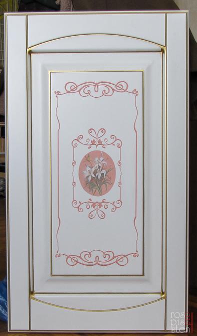 эскиз для росписи мебели : цветы и орнамент