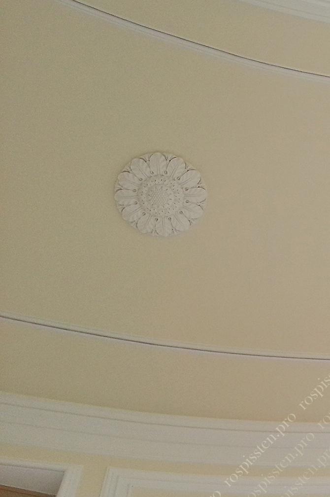 альфрейный кант на потолке