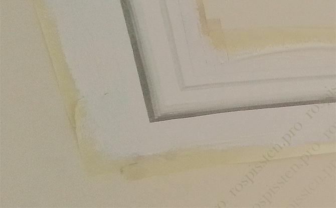 процесс росписи на потолке