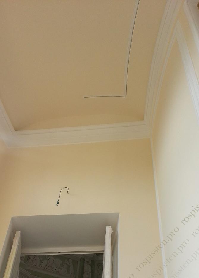 этапы росписи потолка