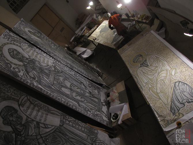 рабочие моменты-прорисовка картонов фигур пророков