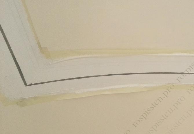 разметка потолка для росписи