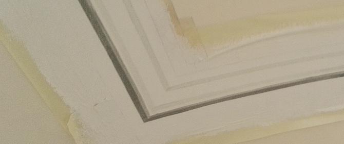 этап росписи потолка