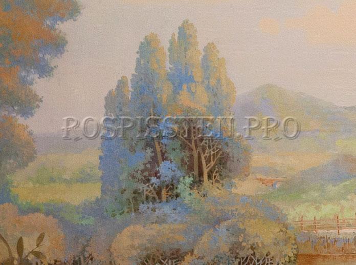роспись стен масляными красками