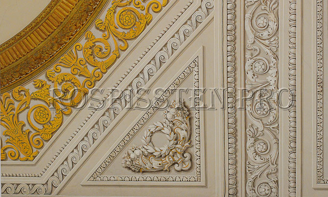 альфрейная роспись Эрмитаж