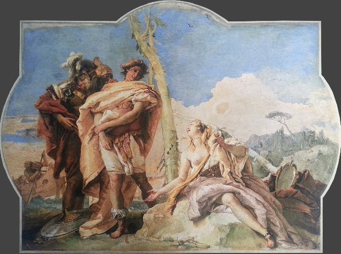 классическая роспись на стене