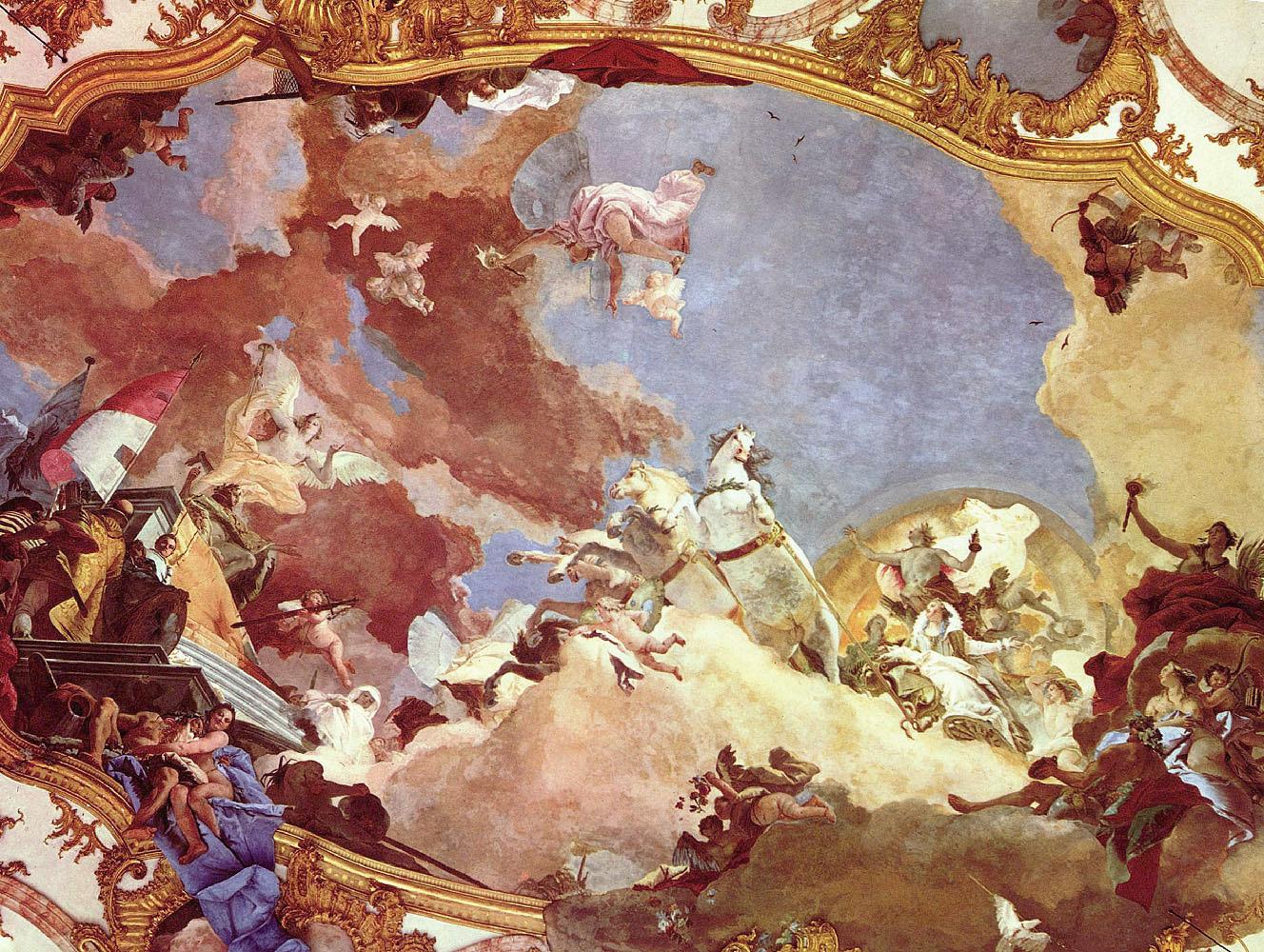 потолочная роспись в одном из залов