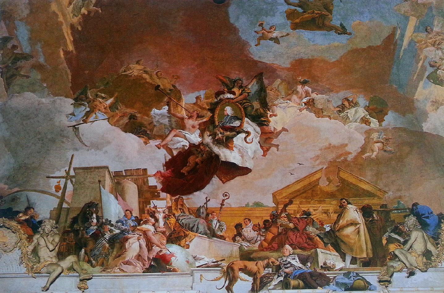 роспись парадной лестницы Тьеполо