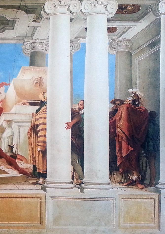 фрагмент фрески на стене