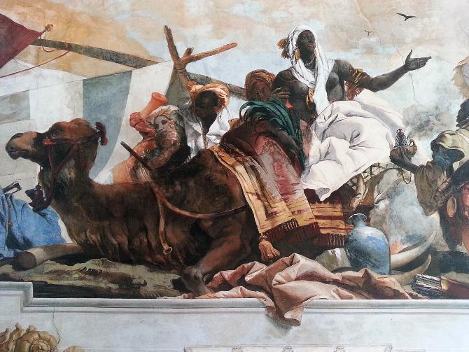 фрагмент росписи Джованни Баттиста Тьеполо