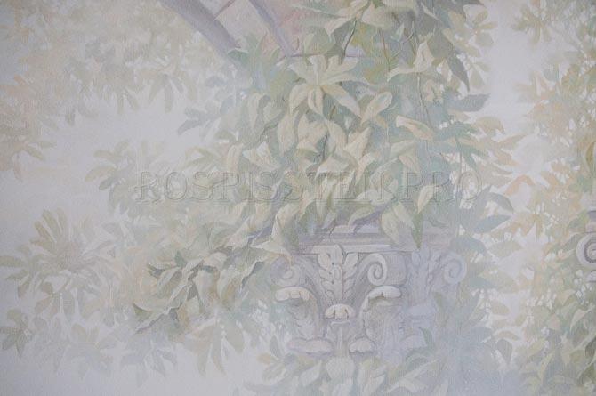 рисунок листьев акрилом