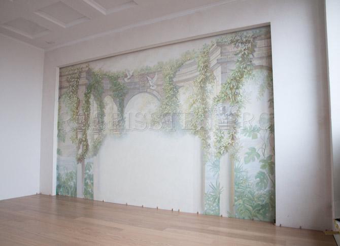 общий вид росписи спальни