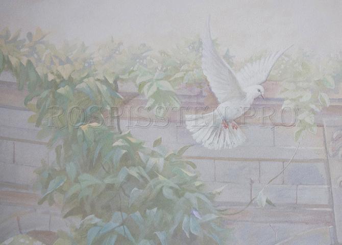 роспись спальни фрагмент 2