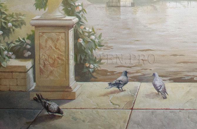 """художественная роспись стен """"Венеция"""