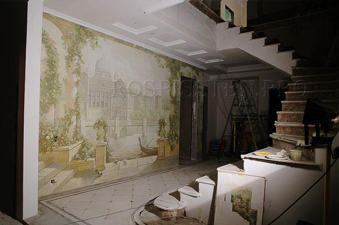 """рисунки на стенах """"Венеция"""""""