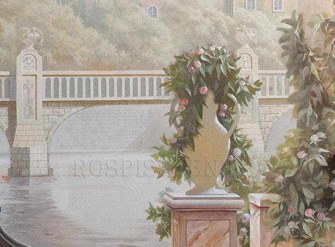 роспись стен венеция цветы