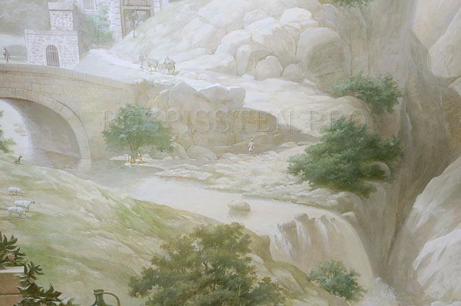детали фрески на стене