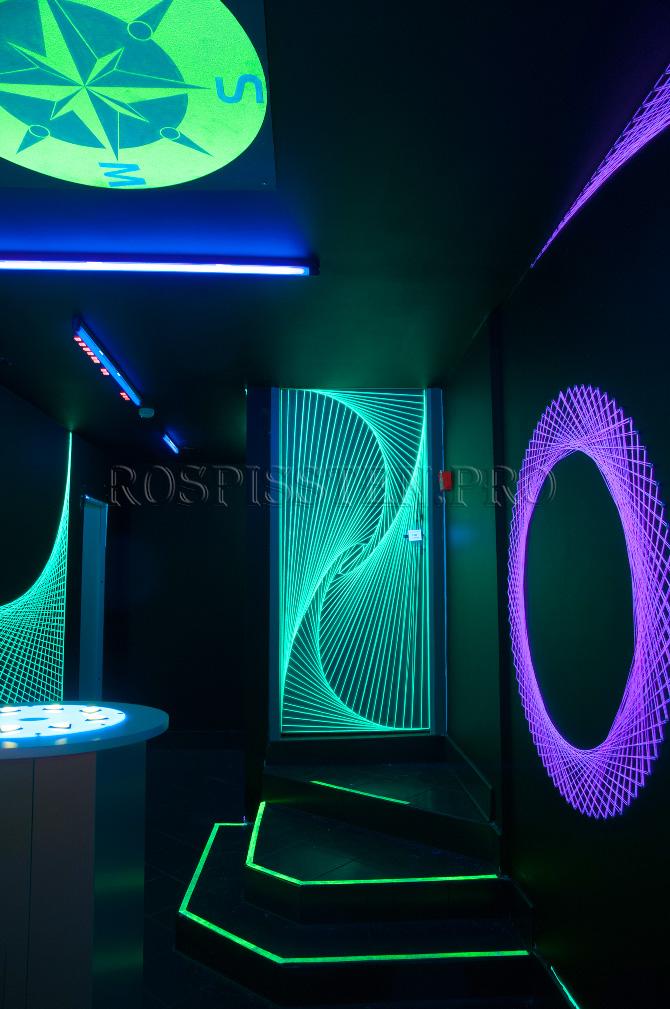 флюоресцентная-роспись-стен