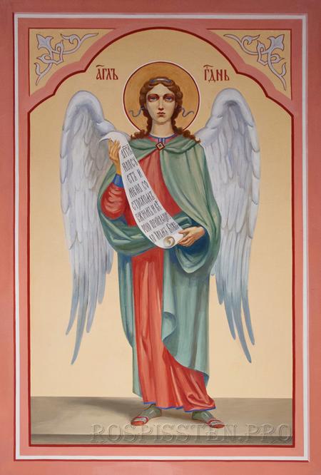 ангел со свитком - роспись храма
